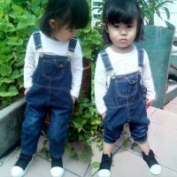 Wholesale Customized Color Denim Kids Overall Jeans For Baby Girls / Baby Boys / Toddlers from china suppliers