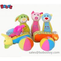 "Wholesale 7"" Plush Baby Farm Friend Bowling Ball Toy  Stuffed Animal Style Kids Bowling Ball Toy from china suppliers"