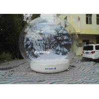 Wholesale 3 - 6m advertising Inflatable Snow Globe Bubble Decorations / Snow Bubble Tent from china suppliers