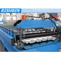 Quality Metal Deck Roll Forming Machine with Hydraulic Cutting , 0.7mm - 2.0mm for sale