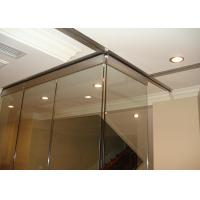 Wholesale Clip Aluminum Soliding Glass Partition Wall  Top Supported For Meeting Room from china suppliers