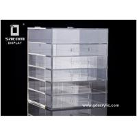 Wholesale Durable 5 Drawers Acrylic Cosmetic Makeup Organizer 12''x12''x16'' Makeup Box from china suppliers