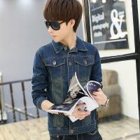 Wholesale Stretch Skinny Vintage Butt Lift Mens Denim Jackets With Leather Sleeves from china suppliers