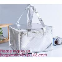 China Hot Sale Reusable PP Non Woven Insulation Thermal Cooler Bag for Cake/Ice Cream/Frozen Food,Pearl cotton insulation alum on sale