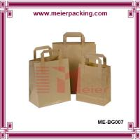 China Kraft paper bags with wide flat handle/Custom kraft paper bags for tea, red date, dry flower on sale