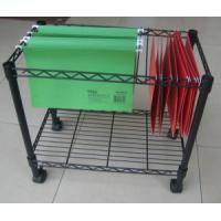 Wholesale Black Adjustable 2 Tiers Steel File Storage Cart from china suppliers