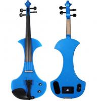 Wholesale 4/4 Full Size  Blue Electric Violin /Silent Violin Outfit, Playwood Construction with Ebony Fittings from china suppliers