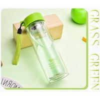 Wholesale Double Insulated Glass Water BottleGreen Color , Healthy Drink Bottles LW-S117 from china suppliers