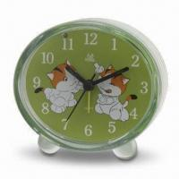 Wholesale Desk Alarm Clock with Sweep Snooze Function, OEM Orders Welcomed, Made of Plastic Material from china suppliers
