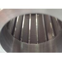 Wholesale Centrifugal Baskets Wedge Johnson Well Screen 1 × 2mm Vee Slot For Water Treatment from china suppliers