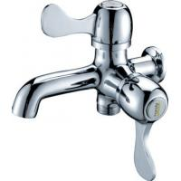Wholesale 0.05 - 0.9MPA Single Cold Water Taps with 2 Handles , Chrome Plated Shower Faucet from china suppliers
