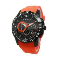 Wholesale Stainless Steel Watches / Men's Sport Watch with Fashion Casual Silicone Band from china suppliers