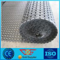 Wholesale high strength Polyester geogrid, PVC coating, max 800kn/m from china suppliers