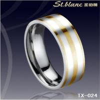 Wholesale tungsten ring with gold inlay TX-024 from china suppliers