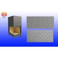 Reeded shaped Vermiculite board for wood burning fireplace