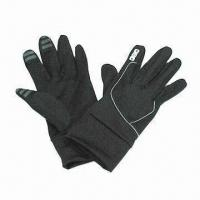 Wholesale Touch Screen Gloves in Various Sizes, Made of 97% Polyester and 3% Elastane from china suppliers