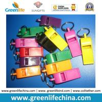 Wholesale Muti-Colors Good Quality Plastic Promo Whistle Gifts w/Split Key Ring from china suppliers