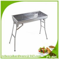 China Folding garden picnic table charcoal BBQ grill on sale