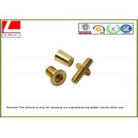 Wholesale Metal Computer Numerical Control CNC machining service Brass shaft , +/-0.1mm Tolerance from china suppliers
