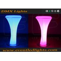 Wholesale Modern PE Plastic led bar table Set high bar lighted cocktail tables white from china suppliers