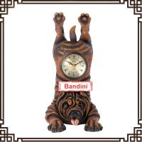 Wholesale charming wall clock lovely dog shaped vintage style custom wall clock with antique style made of resin 1318Q from china suppliers