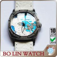 Wholesale Genuine Leather Strap Embossed Ladies Stainless Steel Watch High End Dial Watch from china suppliers