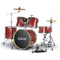 Wholesale Celluloid 5 Piece Golden Acoustic Drum Set For Beginners / Professinals from china suppliers