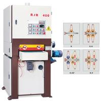 Wholesale 400R-R 400mm width double surface side woodworking MDF panel wide belt sanding machine from china suppliers