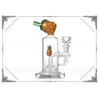 Wholesale Yellow Pineapple Waterpipe 7 inches Mini Glass Bubbler Bong With Showerhead Perc from china suppliers