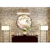 Wholesale Mould Proof Brick Pattern Wallpaper / 3D Brick Effect Wall Coverings For TV Background from china suppliers