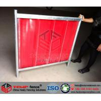 Buy cheap Red Color Temporary Hoarding Panel from wholesalers