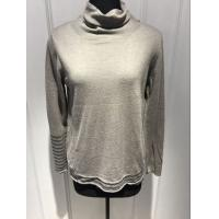 Wholesale Soft Grey Sweater Womens , Pullover Turtleneck Sweater For Spring from china suppliers