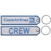 Wholesale Copa Airlines Crew Custom Embroidery Keychains With Merrow Border from china suppliers