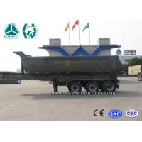 Wholesale 24 CBM 3 Axles U Shape Steel Tipper Semi Trailer with HYVA Cylinder from china suppliers