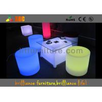 LED Round Bar Stools Glowing Furniture , Modern Bar Furniture