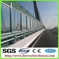 Buy cheap high quality hot-selling cheap traffic barrier manufacturer sound absorbing material sound barrier/noise barrier from wholesalers