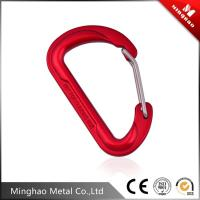 Wholesale MH-GH02 D shaped aluminum climbing snap hook,outdoor red hiking carabiner snap hook from china suppliers