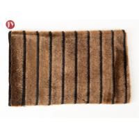 Wholesale high quality Short Pile mink Faux Fur Fabric Coffee Black Groove from china suppliers