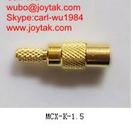 Wholesale High quality gold plated MCX jack streight crimp type coaxial adapter MCX-K-1.5 from china suppliers