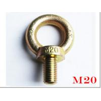 Wholesale Germany DIN580 M20 rigging and machinery eye bolts with Galvanized Surface from china suppliers
