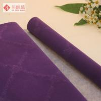 Wholesale Spunlace Flock Velvet Fabric for Upholstery , Packaging Jewelry Box Flocking Fabric from china suppliers
