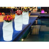 Wholesale Round Stylish Waterproof Hotel Decorative High Design Muilti-Color Decor LED Illuminate Flower Pot from china suppliers