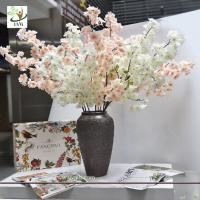 Buy cheap UVG china supplier silk cherry blossom tree branch decor for wedding vase use CHR167 from wholesalers