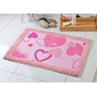 Wholesale Heart-shaped design anti slip acrylic Bath Mat for toilet / entrance door from china suppliers
