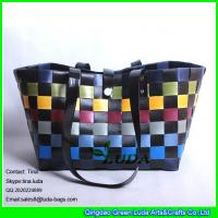 Wholesale LUDA pp strap woven straw bag colorful summer pp straw shopper bag from china suppliers
