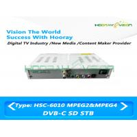 Wholesale H.264 DVB C Set Top Box Video Format 50Hz / 60Hz Multiple Language Metal Casing from china suppliers