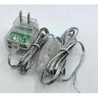 Wholesale Transparency adapter 12V 1A 24V 0.5A 5V 1A 5v 2a lucency case with 304 switch on DC cable from china suppliers