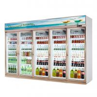 Buy cheap Shop Commercial 5 Glass Door Refrigerator Freezer Fan Cooling Type from wholesalers