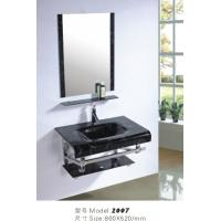 Wholesale vanity bathroom cabinet glass basin cabinet from china suppliers
