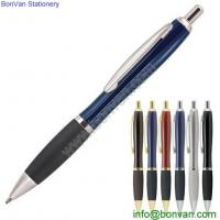 Wholesale push button gold trim pen, retractable metal ballpen,click curvy metal ballpoint pen from china suppliers